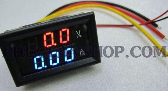 Picture of Đồng hồ hiển thị dòng và áp (Volt, Ampe) (DC 200V, 10A)