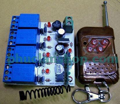 Picture of Bộ điều khiển sóng RF, tắt mở 4 thiết bị