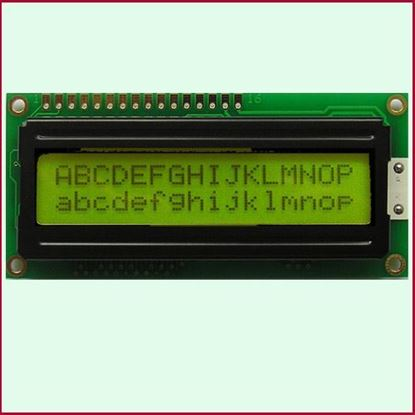 Picture of LCD character 1602A (Yellow)