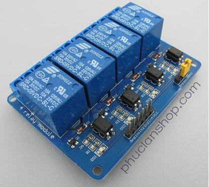 Picture of  Module Đóng ngắt 4 relay có Opto cách ly
