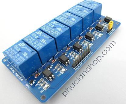 Picture of  Module Đóng ngắt 6 relay có Opto cách ly