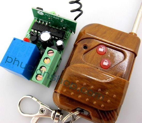 Picture of Bộ điều khiển dùng sóng RF tắt/ mở 1 thiết bị remote 2 nút nhấn