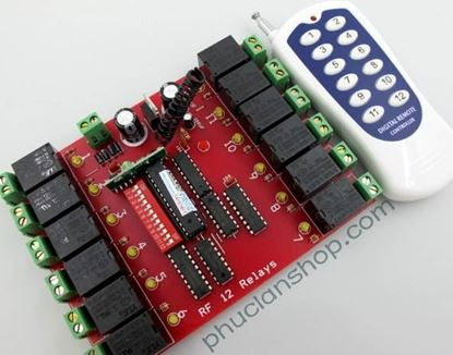 Picture of Bộ điều khiển dùng sóng RF tắt/ mở 12 thiết bị
