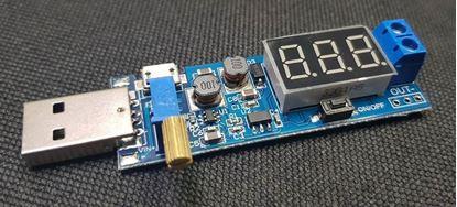 Picture of Module tăng/hạ áp DC với đầu vào USB hoặc micro USB có LED hiển thị Volt