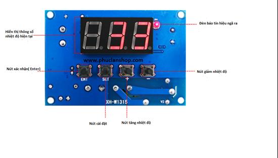 Picture of Mạch điều khiển nhiệt độ K W1315 (nhiệt độ kiểm soát từ -30°C~999 °C)