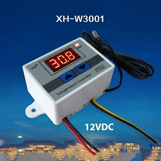 Picture of BỘ CÀI ĐẶT NHIỆT ĐỘ W3001 - 12VDC
