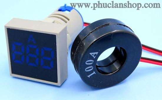 Picture of Đồng hồ báo Ampe AC 100A trắng