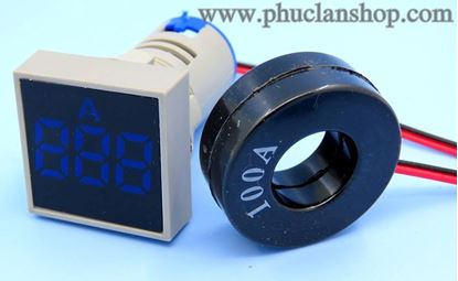 Picture of Đồng hồ báo Ampe AC 100A xanh dương