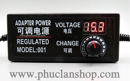 Picture of Adaptor điều chỉnh điện áp có hiển thị LED (3~12VDC) 5A
