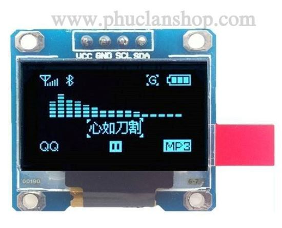 Picture of Màn hình OLED 0.96 inch (128*64) trắng (1W White)