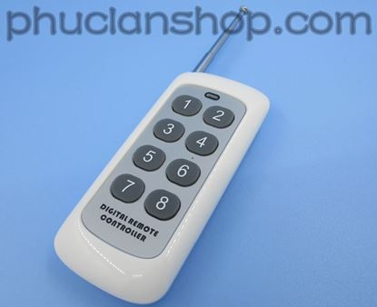Picture of Remote trắng trung 8 nút (8 keys remote RF control)