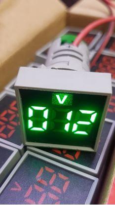 Picture of Đo Volt DC mặt vuông 22mm (ngưỡng đo từ 5~60V DC)